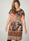 Bedrucktes Kleid aus Wildlederimitat , Multicolor