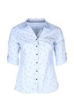 Mit Libellen bedrucktes Hemd, Himmel