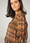 Bluse mit attraktivem Print, Orange