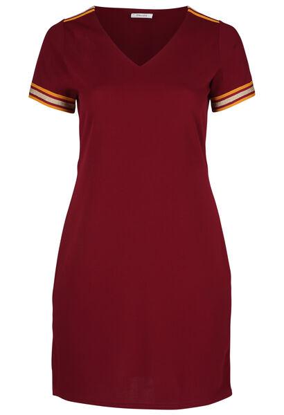 Kleid aus Krepp mit Lurex-Streifen - Bordeaux