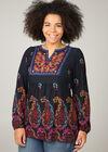 Tunika-T-Shirt im Ethno-Look, Multicolor
