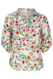 Hemdbluse mit tropischem Print