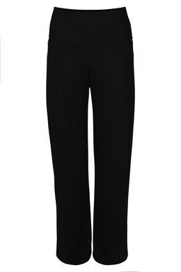 Pyjama-Hose mit weitem Bein, Schwarz
