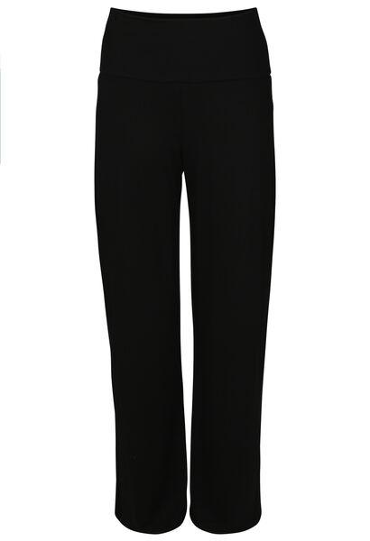 Pyjama-Hose mit weitem Bein - Schwarz