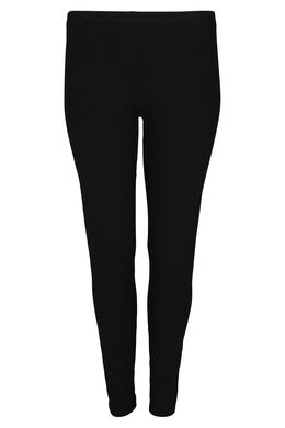 Lange Leggings aus Bio-Baumwolle, Schwarz