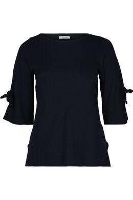 Pullover mit Bindebändern, Marine