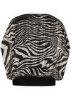 Bluse mit Zebra-Print, Schwarz