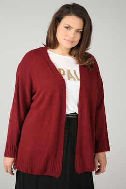 Lockerer Cardigan, Bordeaux