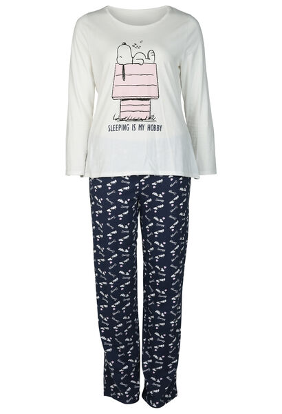 Pyjama mit Snoopy-Print - Marine
