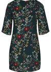 Kleid aus Kreppstoff mit Blumendruck, Multicolor