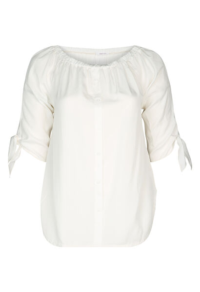 Bluse aus Lyocell - naturfarben
