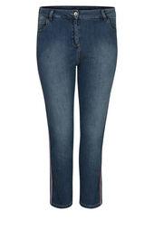 7/8-Jeans mit Lurex-Streifen