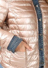 Steppjacke mit Jeans-Elementen, Gold
