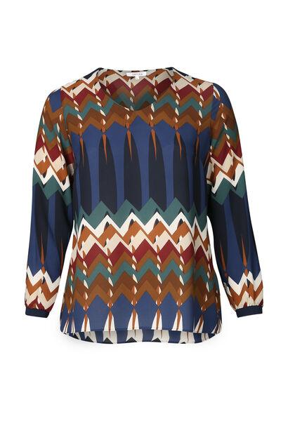 Bluse mit Ethno-Print - Multicolor