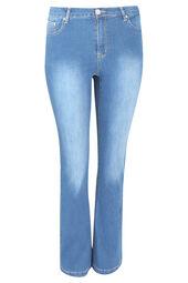 Verwaschene Bootcut-Jeans