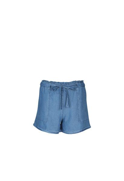 Shorts aus Lyocell im Jeans-Look - Denim
