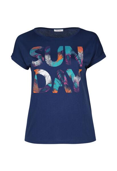 """T-Shirt mit Aufdruck """"Sun Day"""" - Indigo"""