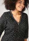 Kleid aus Jacquard-Strick mit Leoparden-Print, Schwarz