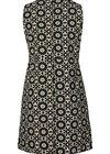 Kleid aus Kreppstoff mit Retro-Blumen-Print, Dunkelgrün grün