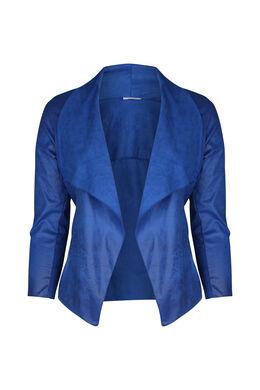 Kurze Jacke mit Revers, Blau Bic