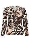 T-Shirt mit Leoparden-Print, Kamel