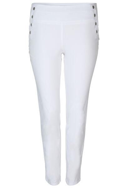 Bengaline-Hose mit Einsatz an der Taille - weiß