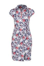 Bedrucktes Kleid aus kühlem Material