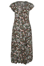 Langes Kleid mit Liberty-Print