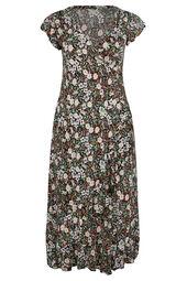 Langes Kleid mit Liberty-Print