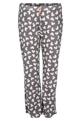 Pyjama-Hose mit Herzchen-Print, Grau