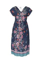 Kleid aus Viskose mit indisch inspiriertem Blumen-Print
