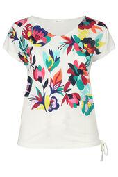 Mit Blumen bedrucktes T-Shirt