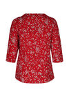 Bluse mit Leopardenmuster, Rot