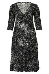 Langes Kleid mit Leoparden-Print