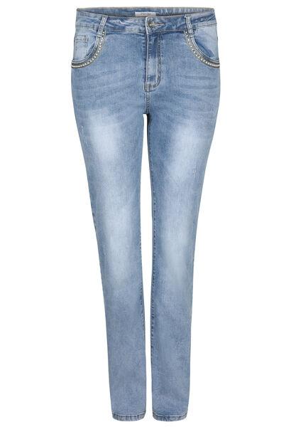 Jeans mit geradem Schnitt - Beinlange 34 - Denim