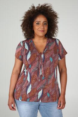 T-Shirt aus kühlem Material mit Krawattenkragen, Alte Rosa