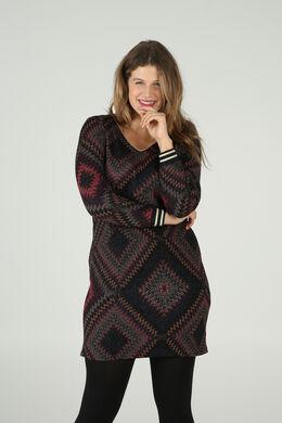 Mit Rhomben bedrucktes Kleid, Multicolor