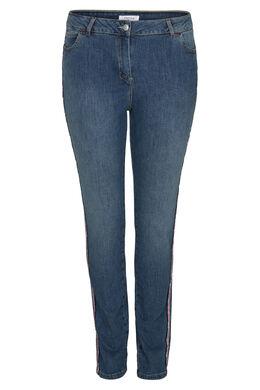 Slim Jeans mit Sportswear-Streifen, Denim