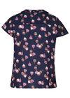 Bluse mit Heißluftballons und verziertem Ausschnitt, Multicolor