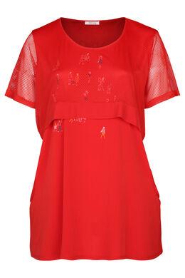 2-in-1-T-Shirt – Blickdichtes Material und Mesh, Orange
