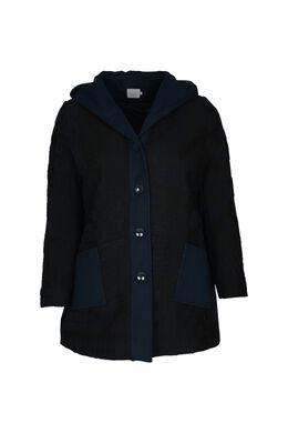 Mantel mit Woll-Effekt, Marine