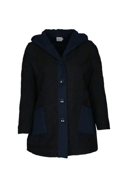 Mantel mit Woll-Effekt - Marine