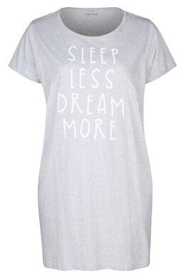"Nachthemd  ""Sleep less, dream more"", China Grau"