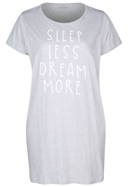 "Nachthemd  ""Sleep less, dream more"" - China Grau"