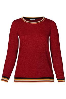 Pullover mit Sportswear-Streifen, Bordeaux