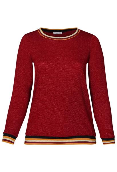 Pullover mit Sportswear-Streifen - Bordeaux