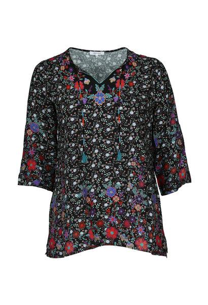 Bluse mit Blumendruck - Multicolor