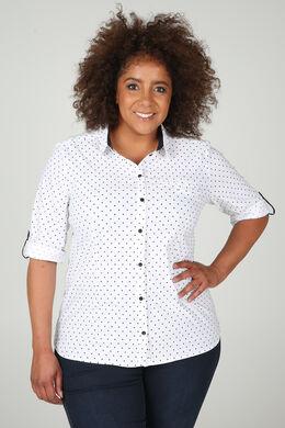 Hemd mit Tupfenaufdruck, weiß