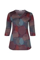 Mit Kreisen bedruckte Tunika t-shirt aus kühlem Material