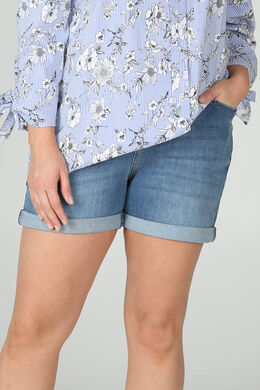 Jeans-Shorts mit Ösen-Detail, Denim